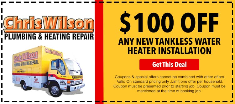 discount on tankless water heater installation