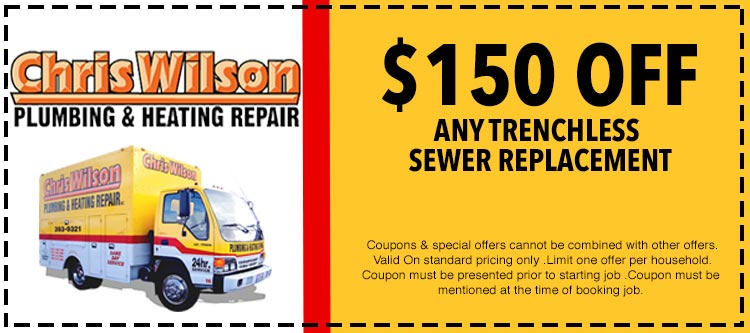 discount on trenchless sewer replacement