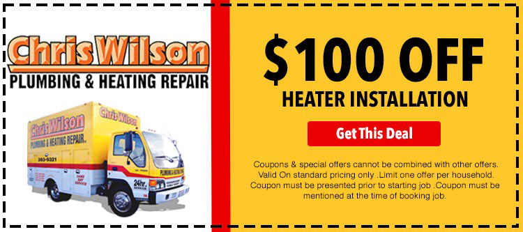 discount on heater installation