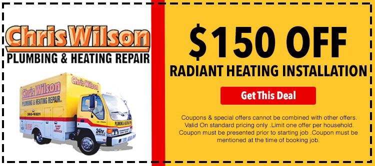 discount on radiant heating installation