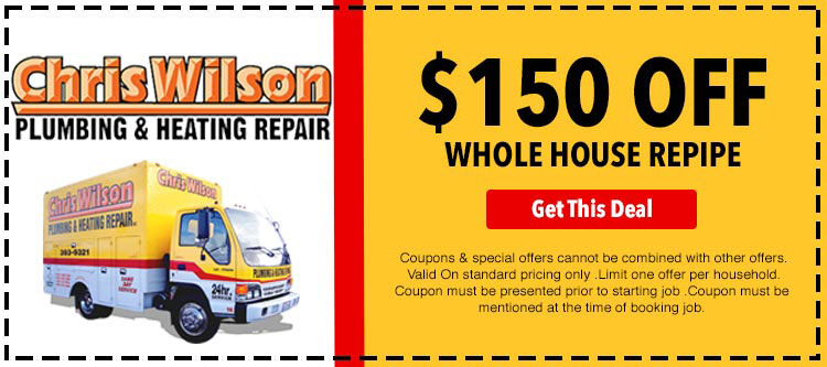 discount on whole house repiping