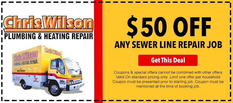 discount on sewer line repair job