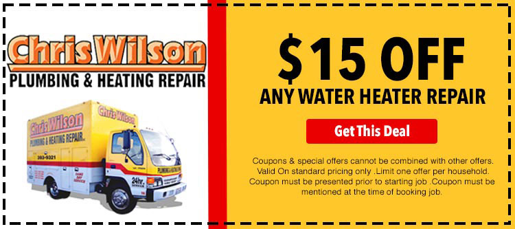 discount on water heater repair
